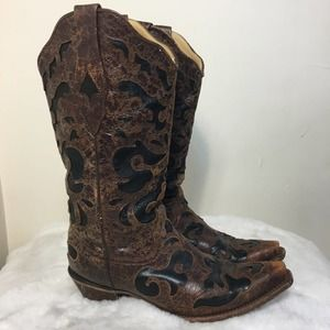 Corral C1957 Vintage Goat Overlay Cowboy Boots 9.5